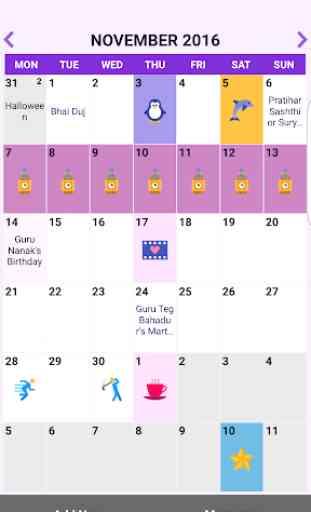India Calendar 2019 and 2020 3
