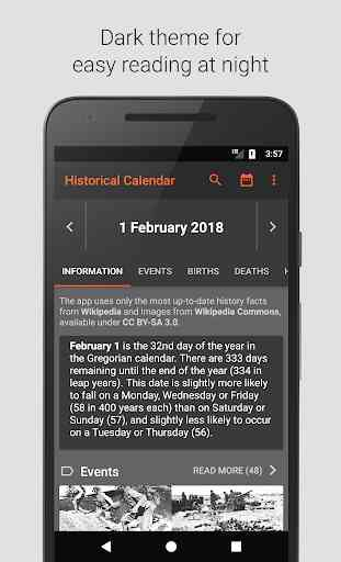Historical Calendar (Android) image 2