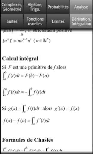 Formules Maths Bac S 2