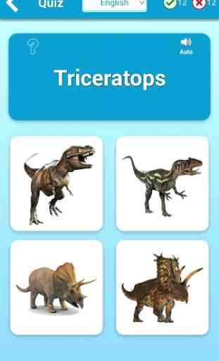 Tarjetas Dinosaurios (Juego de Dinosaurios) 3