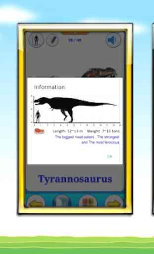 Tarjetas Dinosaurios (Juego de Dinosaurios) 4