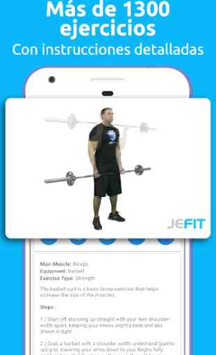 JEFIT: Gym Trainer, Diario Gimnasio, Ejercicios 3