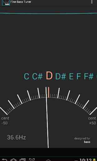 Afinador exacto para el bajo  Chromatic Bass Tuner 1