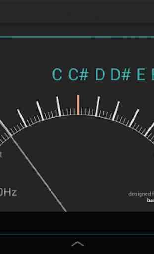 Afinador exacto para el bajo  Chromatic Bass Tuner 2