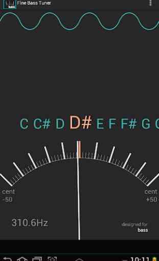 Afinador exacto para el bajo  Chromatic Bass Tuner 3