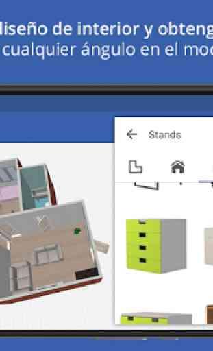 Sueco diseño de hogar 3D 1