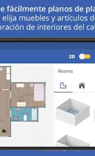 Sueco diseño de hogar 3D 3