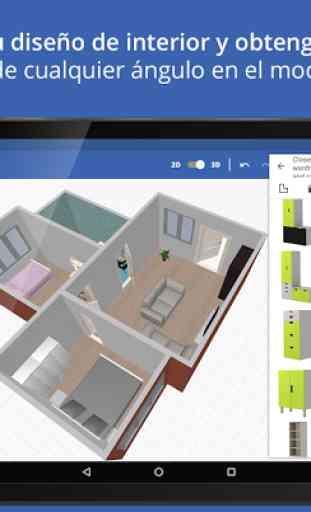Sueco diseño de hogar 3D 4