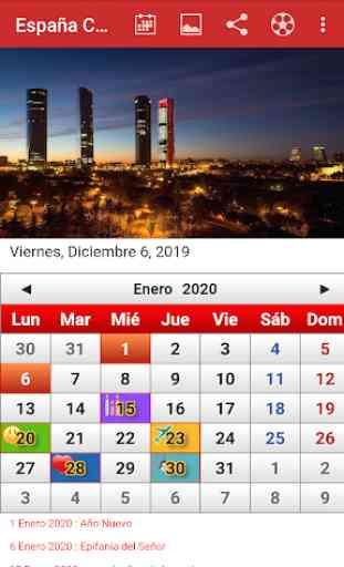 España Calendario 2020 1