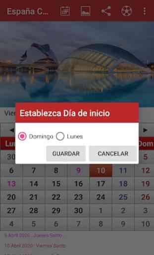España Calendario 2020 3