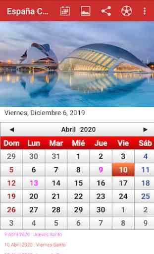 España Calendario 2020 4