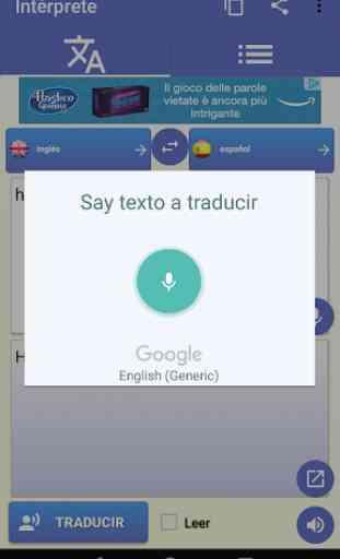 intérprete - voz Traductor traducción 100 idiomas 2