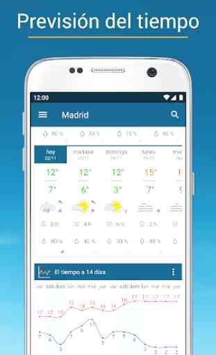 Tiempo & Radar: alarma de lluvia, tiempo 14 días 2