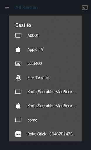 All Screen (Chromecast, DLNA, Roku, Fire TV) 2