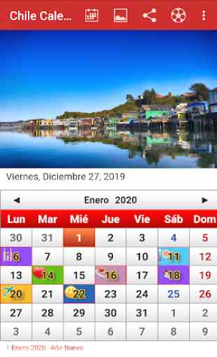 Chile Calendario 2019 1