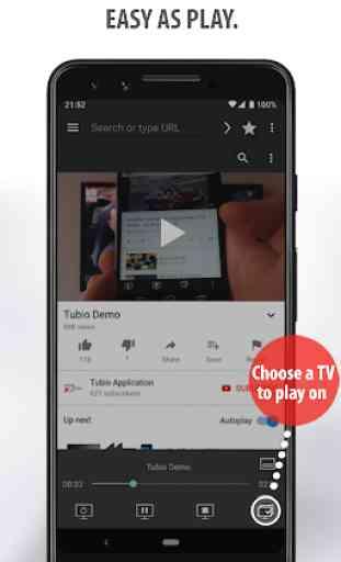 Tubio - Vídeos de web a TV, Chromecast, Airplay 3