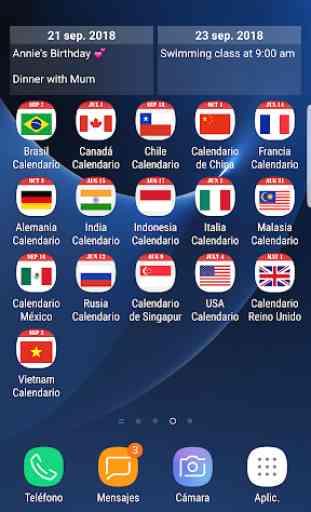 Calendario de USA 2019 y 2020 1