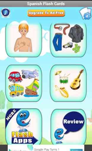 Tarjetas españolas para niños 3
