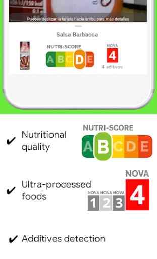 Open Food Facts- Escanear para obtener Nutri-Score 2