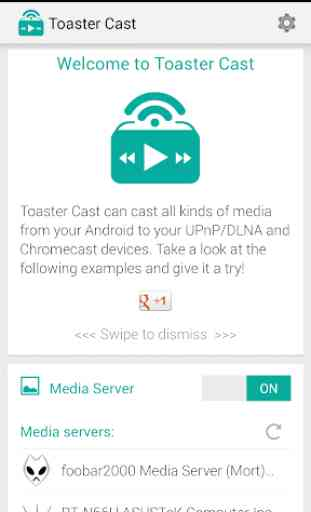 Toaster Cast Reproductor DLNA 1