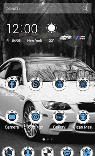 White BMW Theme 2