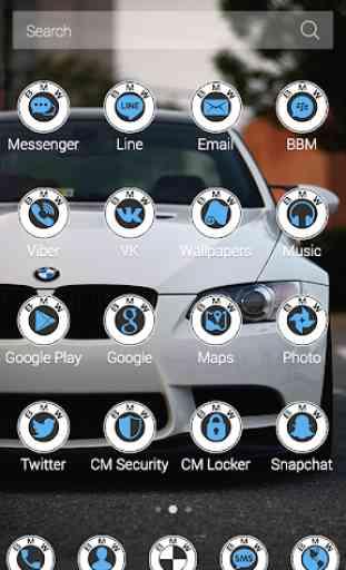 White BMW Theme 3
