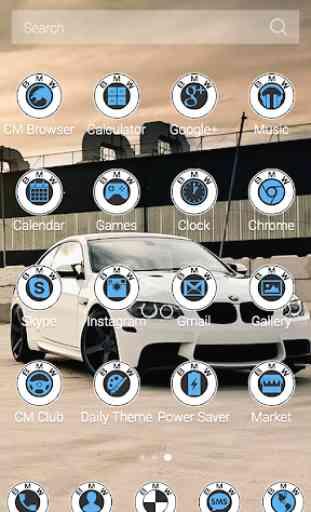 White BMW Theme 4