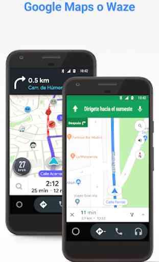 Android Auto: Google Maps, multimedia y mensajería 3