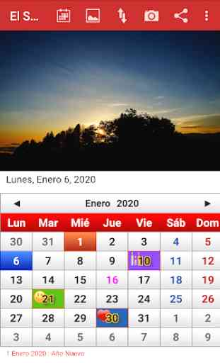El Salvador Calendario 2020 1
