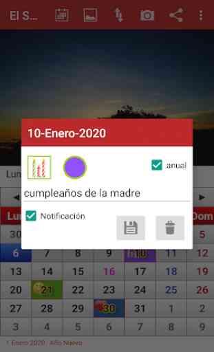 El Salvador Calendario 2020 2