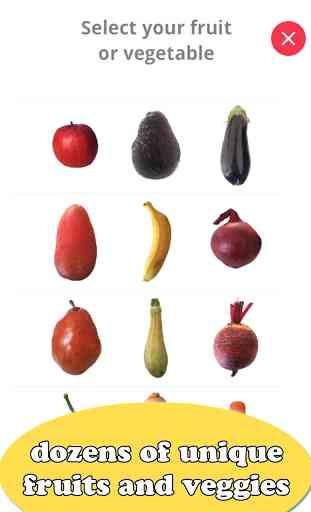 Fruta Dibujo: Verduras Sculpt 3