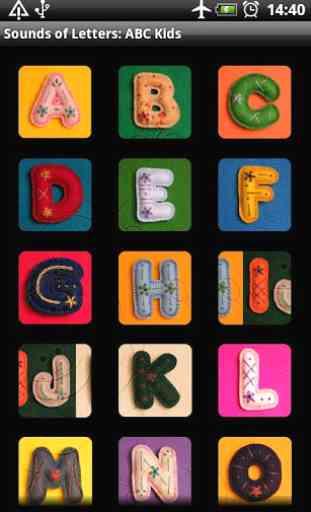 Sonidos de las letras alfabeto 1