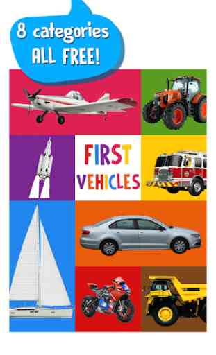 First Words for Baby: Vehicles 1