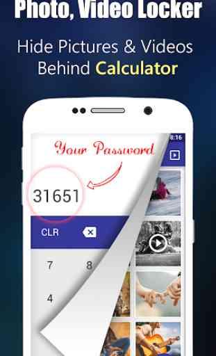 Photo,Video Locker-Calculator 1