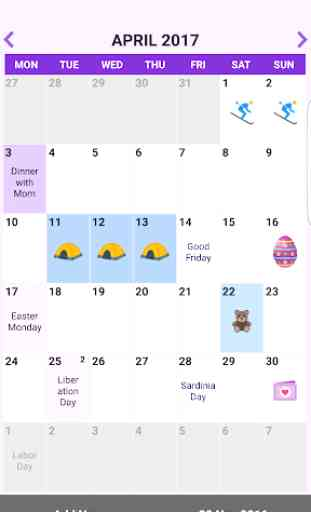 Italia Calendario 2019 y 2020 2
