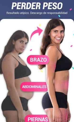 App de perder peso para mujeres - Entrena en casa 1