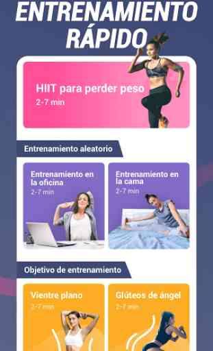 App de perder peso para mujeres - Entrena en casa 4