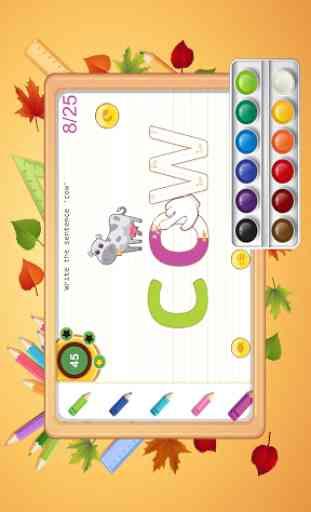 escritura alfabeto ABC niños - rastreo y fonética 2