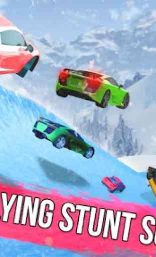 Frozen Water Slide Car Race: Aqua Park adventure 1