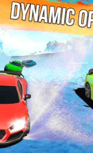 Frozen Water Slide Car Race: Aqua Park adventure 2