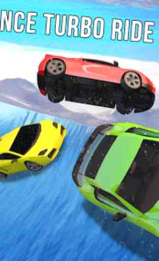 Frozen Water Slide Car Race: Aqua Park adventure 3
