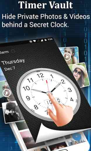 Clock - The Vault : Secret Photo Video Locker 1