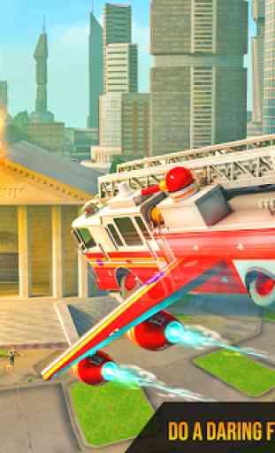 Flying Firefighter Truck Transform Robot Games 1