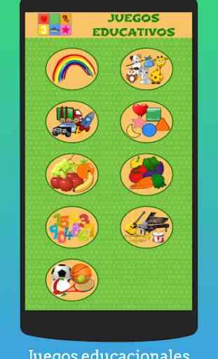 Juegos educativos de preescolar para niños Español 1