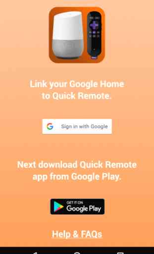 Quick Remote for Google Home/Assistant & Roku 3