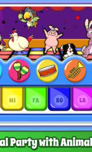 Baby Piano Games & Music for Kids Gratis 4