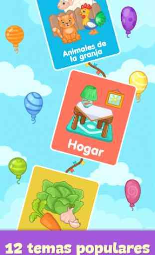 Baby tarjetas didácticas para niños pequeños 4