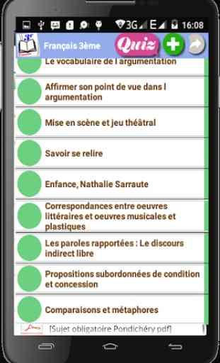 Français 3ème 1
