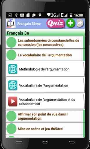 Français 3ème 2