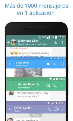 Messenger para mensajes de texto, vídeo chat y más 1